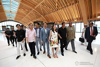 Mactan–Cebu International Airport - President Rodrigo Roa Duterte takes a tour inside the new inaugurated MCIA Terminal 2