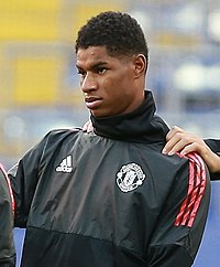 06288ea50 Press Tren CSKA - MU (3).jpg. Rashford warming up for Manchester United ...