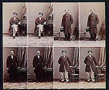 A E Disderi Nierozciety Arkusz Z Osmioma Cartes De Visite 1862
