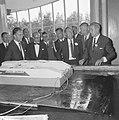 Prins Bernhard opende golfstromingslaboratorium te Wageningen, de Prins tijdens , Bestanddeelnr 917-8665.jpg