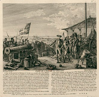 Battle of Grenada - The capture of the island of Grenada by the troops of D'Estaing