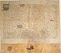 Privilegio de 1352 de Pedro I de Castilla confirmando los privilegios que su padre, Alfonso XI, había concedido al monasterio de San Clemente de Sevilla.jpg