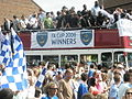Proud players and fans celebrate an historic day. - geograph.org.uk - 807244.jpg