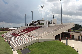 Lamar Cardinals and Lady Cardinals - Image: Provost Umphrey Stadium View of west side seating