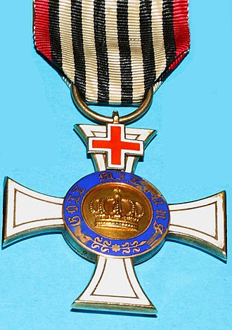 Order of the Crown (Prussia) - Order of the Crown with Cross of Geneva, 3rd Class