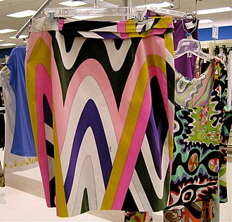 """Emilio Pucci - Pucci skirt and dress, 2007. The colourful style of prints associated with Emilio Pucci designs are often called """"Pucci prints""""."""