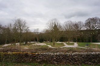 Pump track - A pump track facility in Whaley Bridge Memorial Park in Whaley Bridge, England