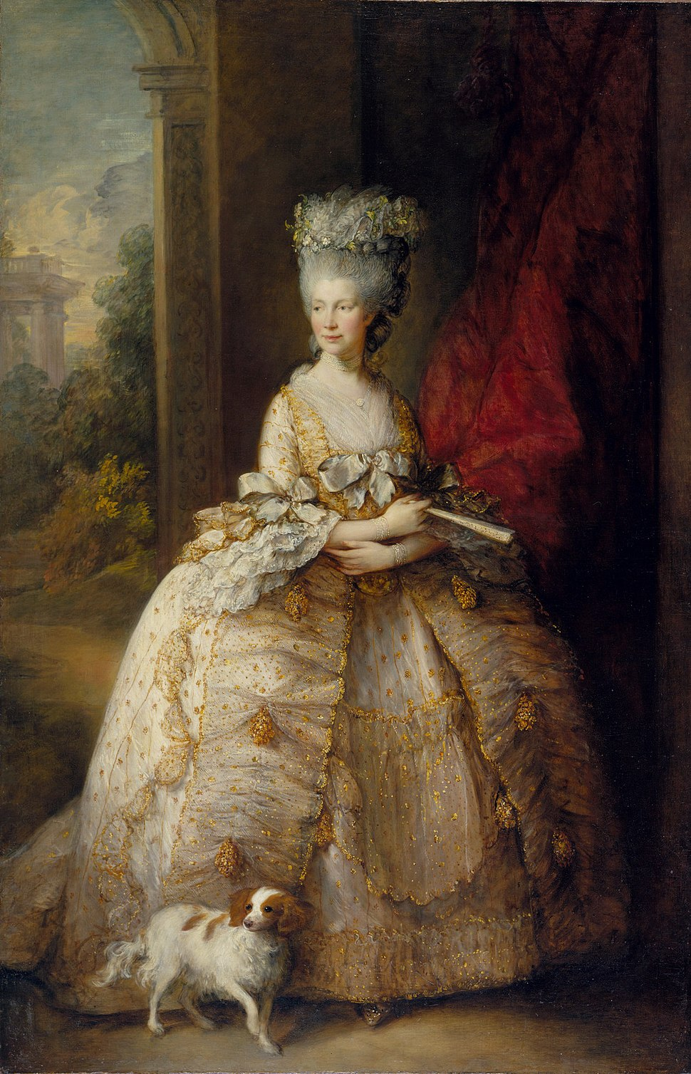 Queen Charlotte, by studio of Thomas Gainsborough