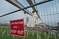 Queensferry Crossing Construction site with Keep Out sign (26292427314).jpg