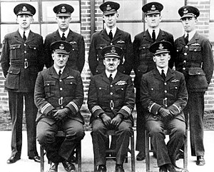 Raymond Brownell - Officers of RAAF Base Pearce in 1938. Brownell, Commanding Officer of the base, is located centre, front row.