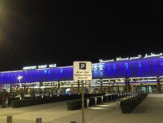 Rabat–Salé Airport - Rabat Airport at night
