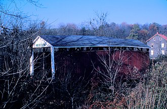 Liverpool Township, Perry County, Pennsylvania - Red Covered Bridge