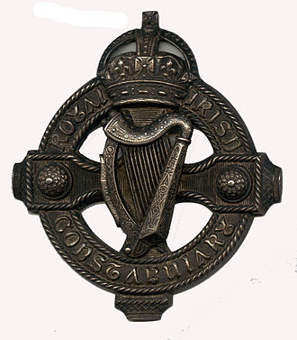 Royal Irish Constabulary - Tack badge from the RIC Mounted Division