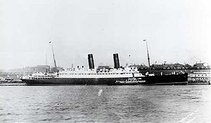 RMS Laconia (1911) - RMS Laconia at New York.