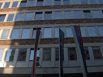 Tašmajdan Park - Image: Radio Television of Serbia headquarters in Tašmajdan Park