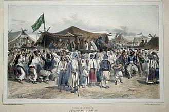 Regulamentul Organic - A peasant fair in the Wallachian city of Giurgiu (1837)