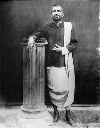 "Ramakrishna - Photograph of Ramakrishna, taken on 10 December 1881 at the studio of ""The Bengal Photographers"" in Radhabazar, Calcutta (Kolkata)."
