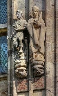 Rathausturm Köln - Nikolaus von Verdun, Reinald von Dassel (0837-39).jpg