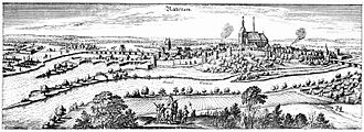 Battle of Rathenow - View of the town of Rathenow in 1633