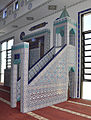 Ravensburg Mevlana-Moschee Gebetsraum Minbar 02.jpg