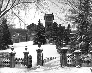 Hugh Allan - Allan's home, Ravenscrag in Montreal's Golden Square Mile, completed in 1863