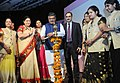 "Ravi Shankar Prasad lighting the lamp to inaugurate the workshop on ""Stree Swabhiman CSC Initiative for promoting Women's Health & Hygiene"", on the International Women's Day, in New Delhi.jpg"