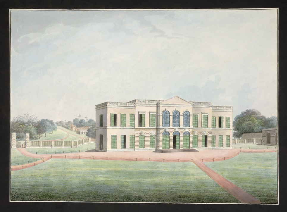 Rear view of the East India Company's Factory at Cossimbazar