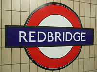 Redbridge station roundel.JPG