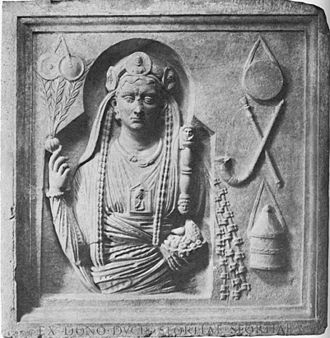 Galli - Funerary relief of an Archigallus from Lavinium, mid-2nd century AD, Capitoline Museums, Rome.