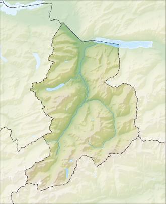 Reliefkarte Glarus blank
