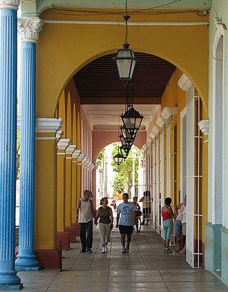 Remedios, Cuba - Colonial buildings in main square