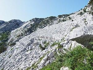 Glaciokarst - Glaciokarst features at Reovack greda col, Mt. Orjen