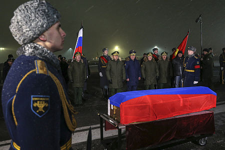 Repatriation of Oleg Peshkov's body at Chkalovsky Airport (6).jpg
