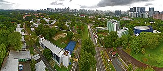 Republic Polytechnic - Aerial perspective of Republic Polytechnic's former Tanglin Campus