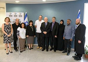 Achva Academic College - Reuven Rivlin the president of Israel in a visit in the Achva Academic College