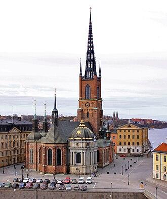 Riddarholm Church - Image: Rhkyrkan fr staden