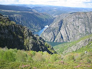 Geology of the Iberian Peninsula - The Galician Massif mountains surrounding the Sil River in Lugo, Galicia.