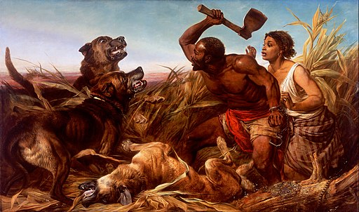 Richard Ansdell - The Hunted Slaves - Google Art Project