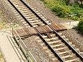 Riedstadt-Goddelauer Bahnhof- Gleis 701- Drehkreuze 15.8.2013.jpg