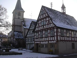 Marbach am Neckar - Marbach-Rielingshausen Church and town hall