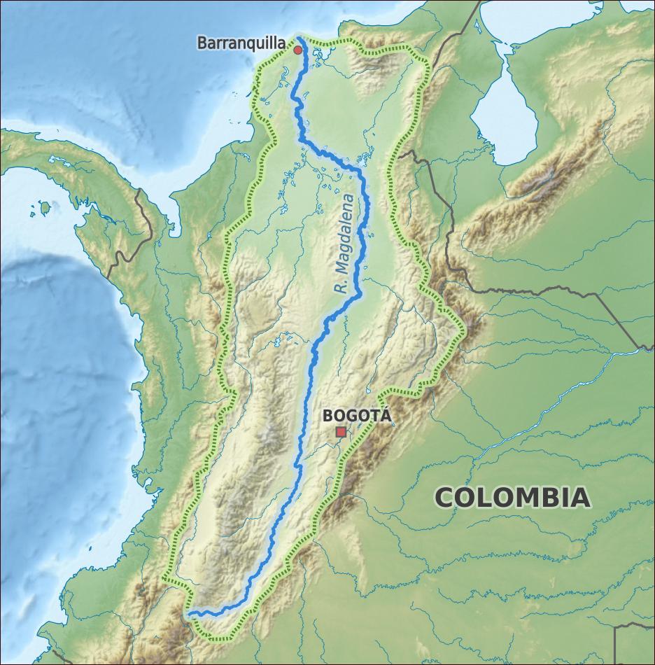 Rio Magdalena map