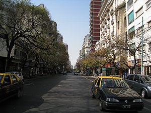Avenida Rivadavia - Rivadavia Avenue.