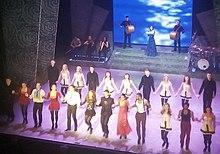 Foto van de cast van Riverdance