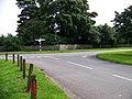 Road junction at Stichill Parish Church - geograph.org.uk - 947183.jpg