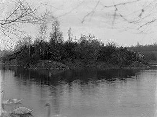 Roath Lake with Island