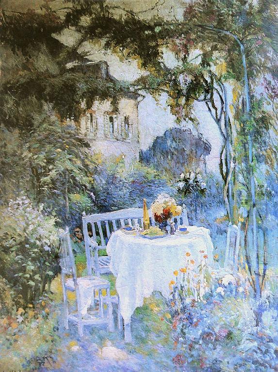 file robert antoine pinchon le jardin oil on canvas 130. Black Bedroom Furniture Sets. Home Design Ideas