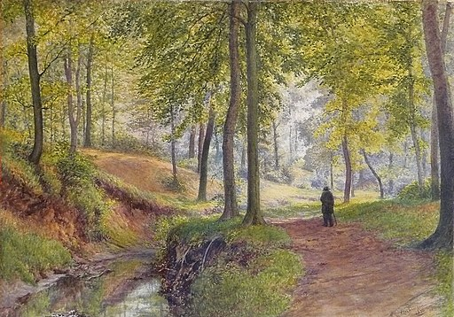 Robinson William - Watercolor - A woodland walk - 33x47cm