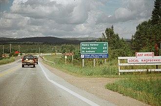Rocky Harbour, Newfoundland and Labrador - Image: Rocky Harbour sign NFLD