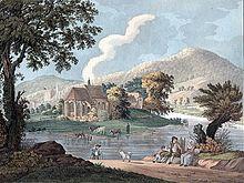 Karl Ludwig Roeck malte als Dilettant 1810 auf einem studentischen Ausflug die Ersheimer Kapelle in Hirschhorn am Neckar im Stile der Heidelberger Romantik (Quelle: Wikimedia)