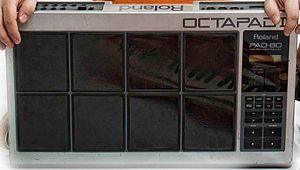 MIDI controller - The Roland Octapad percussion/drum controller.